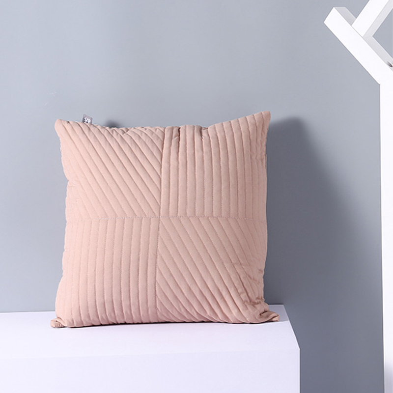 Solid color autumn/winter line pillowcase/pink