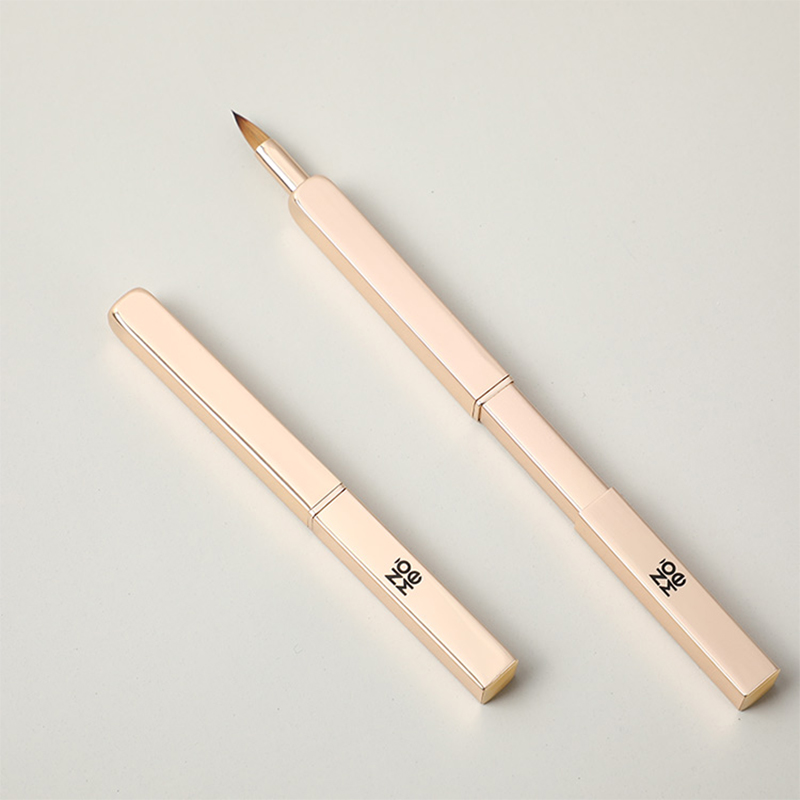 Square retractable portable lip brush
